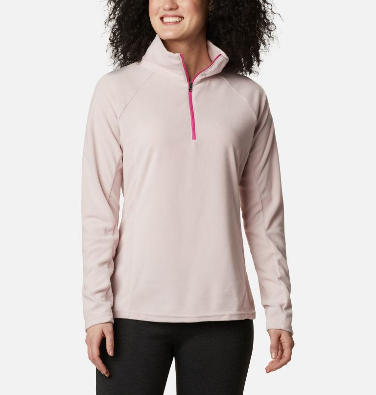 TTIP Glacial™ 1/2 Zip | 618 | L Women's TTIP Glacial™ 1/2 Zip Top Fleece, Mineral Pink, front