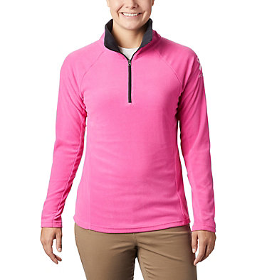 Women's TTIP Glacial™ 1/2 Zip Top Fleece TTIP Glacial™ 1/2 Zip | 618 | L, Pink Ice, Black, front