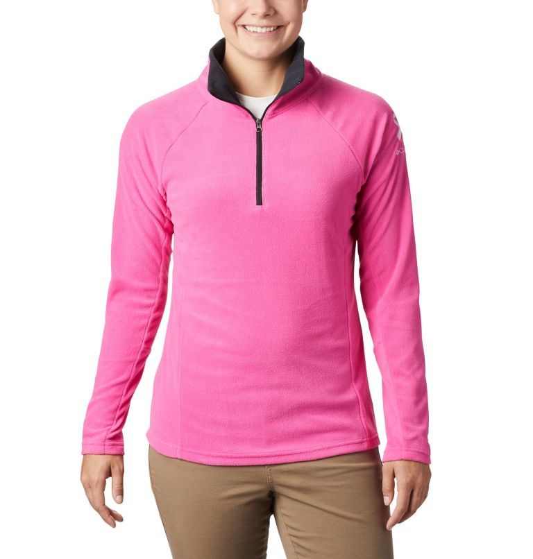 TTIP Glacial™ 1/2 Zip | 695 | XS Women's TTIP Glacial™ 1/2 Zip Top Fleece, Pink Ice, Black, front