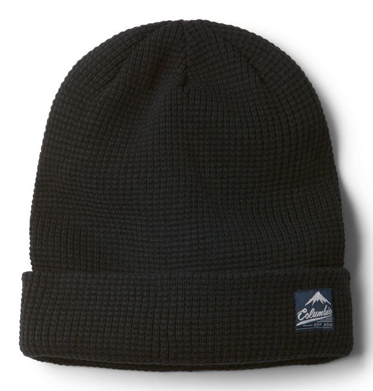 Lost Lager™ Waffle Beanie | 010 | O/S Unisex Lost Lager™ Waffle Beanie, Black, front