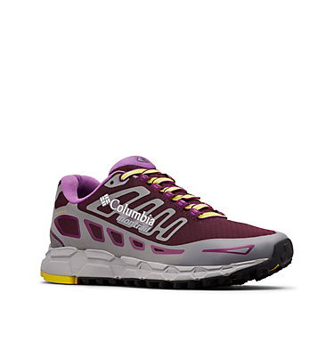 Women's Bajada™ III Winter Trail Running Shoes BAJADA™ III WINTER | 639 | 7, Black Cherry, Ginkgo, 3/4 front