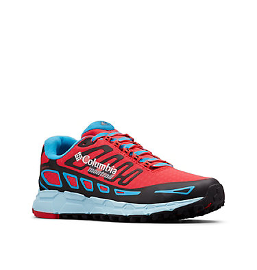 Bajada™ III Winter Trail Laufschuh für Damen BAJADA™ III WINTER | 639 | 10.5, Red Camellia, Blue Chill, 3/4 front