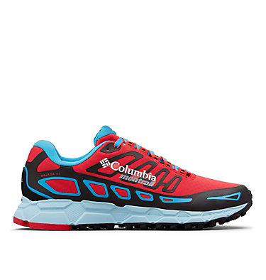 Women's Bajada™ III Winter Trail Running Shoes BAJADA™ III WINTER | 639 | 7, Red Camellia, Blue Chill, front
