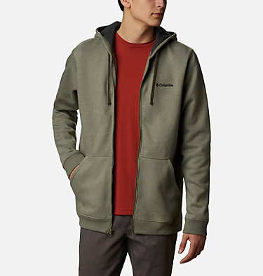 Men's Hart Mountain™ Full Zip Hoodie Hart Mountain™ Full Zip | 449 | XXL, Stone Green Heather, front