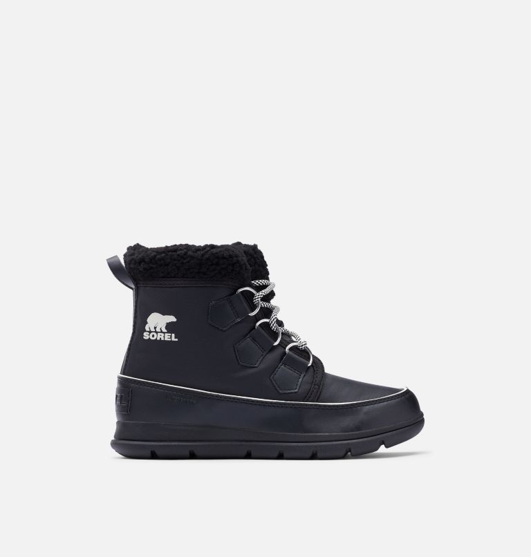SOREL™ EXPLORER CARNIVAL | 010 | 6.5 Women's Sorel™ Explorer Carnival Boot, Black, Sea Salt, front