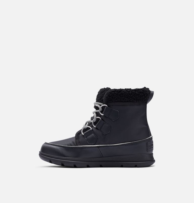 SOREL™ EXPLORER CARNIVAL | 010 | 9 Women's Sorel™ Explorer Carnival Boot, Black, Sea Salt, medial