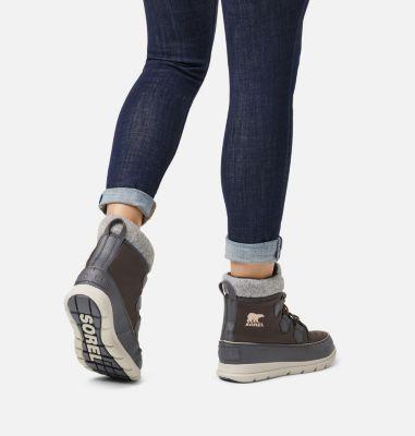 Womens Sorel Explorer Carnival Fashion Insulated Waterproof Winter Boots Black