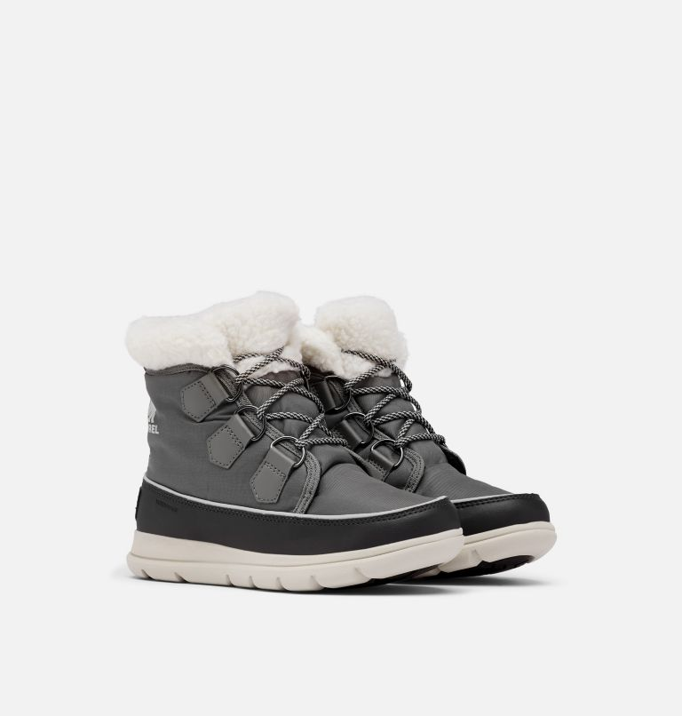 SOREL™ EXPLORER CARNIVAL | 052 | 6.5 Women's Sorel™ Explorer Carnival Boot, Quarry, 3/4 front