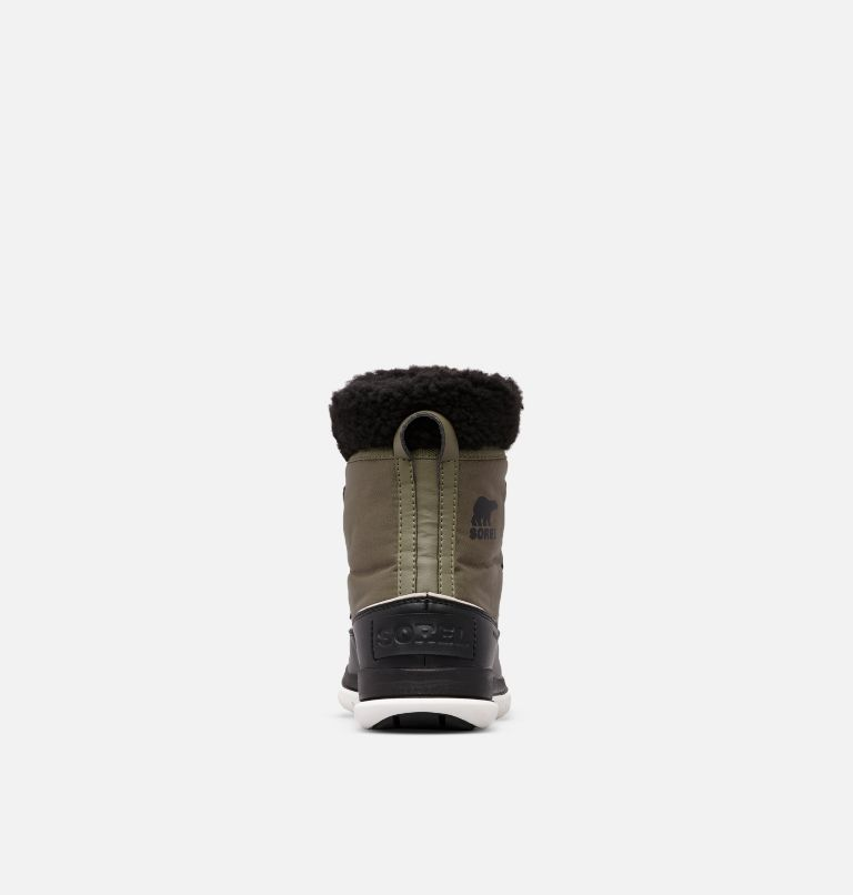 SOREL™ EXPLORER CARNIVAL | 371 | 10 Bota SOREL™ Explorer Carnival, Hiker Green, Black, back