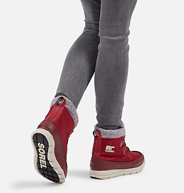 Women's Sorel™ Explorer Carnival Boot SOREL™ EXPLORER CARNIVAL | 371 | 5, Red Dahlia, video
