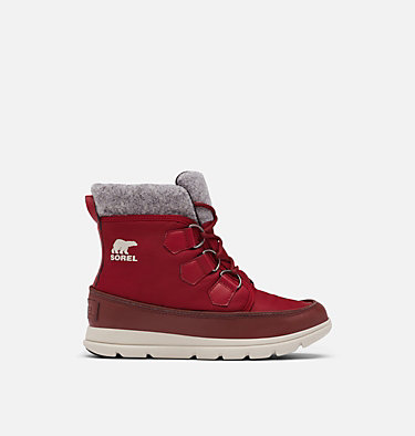 Women's Sorel™ Explorer Carnival Boot SOREL™ EXPLORER CARNIVAL | 371 | 5, Red Dahlia, front