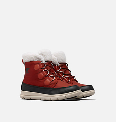 Women's SOREL™ Explorer Carnival Boot SOREL™ EXPLORER CARNIVAL | 920 | 5, Rusty, Black, 3/4 front