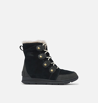 Women's SOREL™ Explorer Joan Boot SOREL™ EXPLORER JOAN | 282 | 7, Black, Dark Stone, front