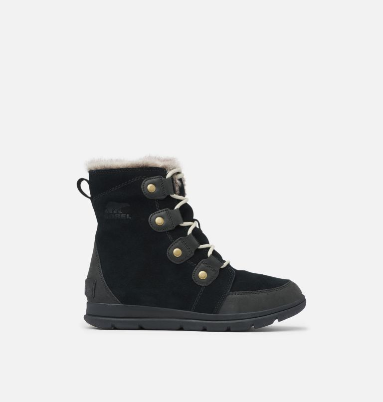 SOREL™ EXPLORER JOAN | 010 | 5.5 Women's SOREL™ Explorer Joan Boot, Black, Dark Stone, front