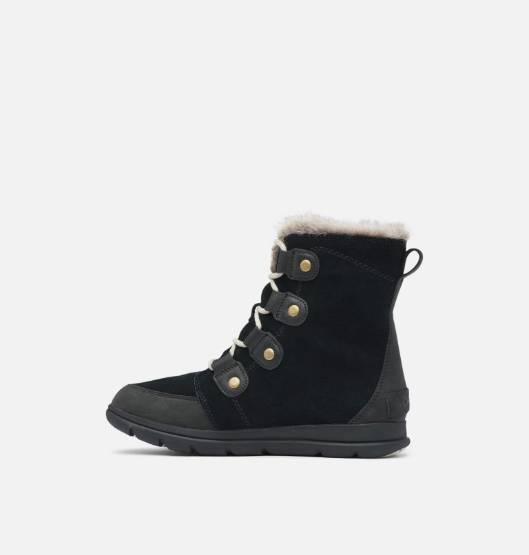 SOREL™ EXPLORER JOAN | 010 | 5.5 Women's SOREL™ Explorer Joan Boot, Black, Dark Stone, medial