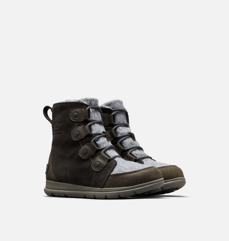 SOREL™ EXPLORER JOAN | 048 | 8 Bota SOREL™ Explorer Joan, Coal, 3/4 front