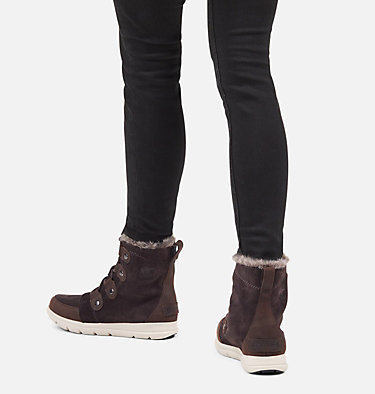 Women's Sorel Explorer™ Joan Boot SOREL™ EXPLORER JOAN | 052 | 10, Blackened Brown, video