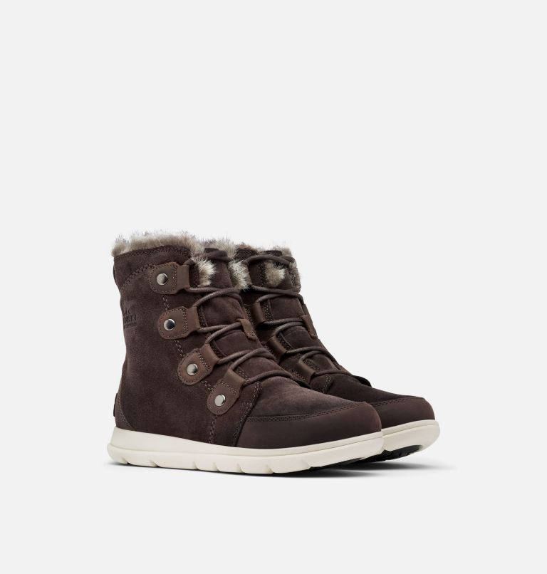 SOREL™ EXPLORER JOAN | 205 | 6.5 Women's Sorel Explorer™ Joan Boot, Blackened Brown, 3/4 front
