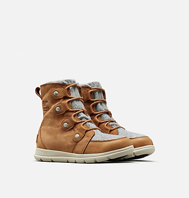 Women's SOREL™ Explorer Joan Boot SOREL™ EXPLORER JOAN | 282 | 7, Camel Brown, 3/4 front