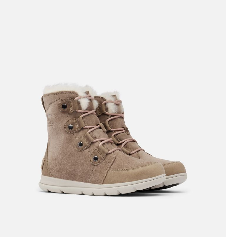 SOREL™ EXPLORER JOAN | 240 | 6 Women's Sorel Explorer™ Joan Boot, Ash Brown, 3/4 front