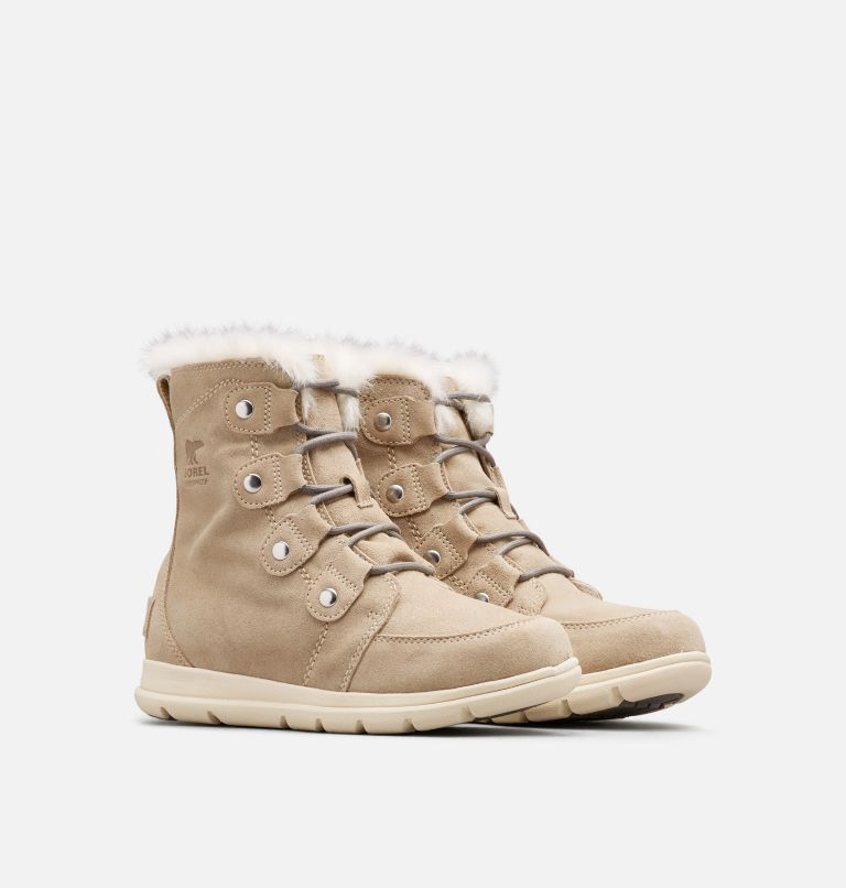 SOREL™ EXPLORER JOAN | 271 | 5 Women's Sorel Explorer™ Joan Boot, Ancient Fossil, 3/4 front