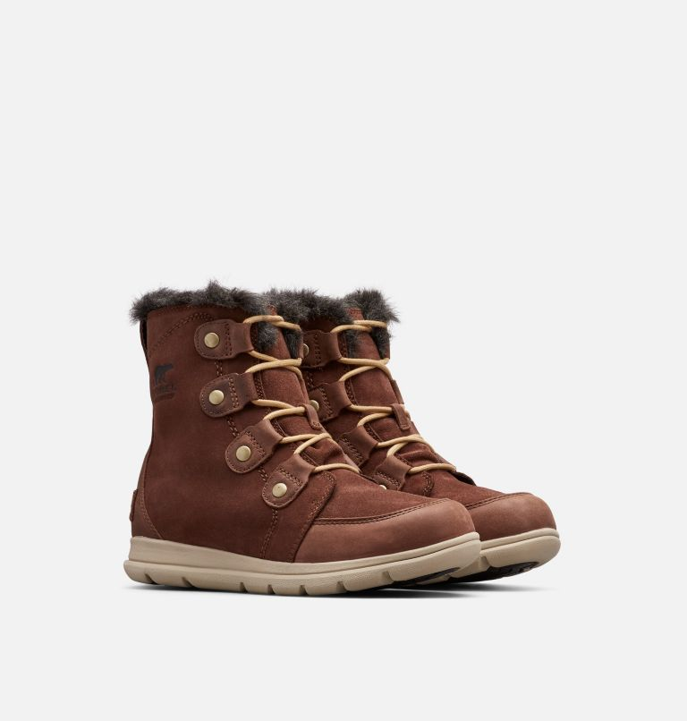 SOREL™ EXPLORER JOAN | 282 | 8 Women's SOREL™ Explorer Joan Boot, Burro, 3/4 front