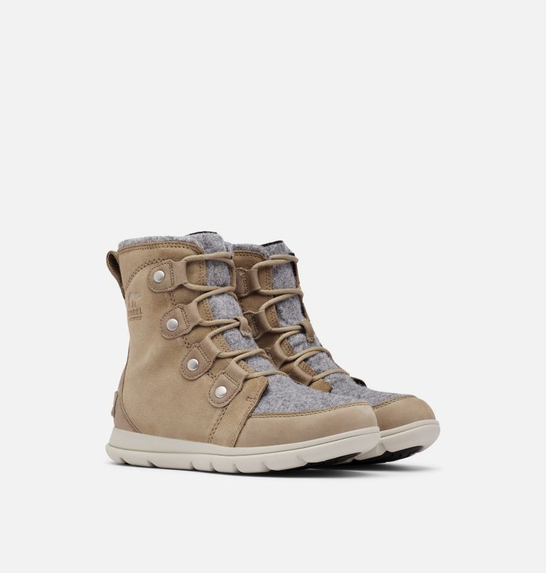 SOREL™ EXPLORER JOAN | 297 | 10 Women's Sorel Explorer™ Joan Boot, Khaki II, 3/4 front