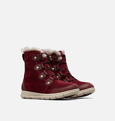 Sorel™ Explorer Joan Stiefel für Frauen SOREL™ EXPLORER JOAN | 282 | 11, Rich Wine Ancient Fossil, 3/4 front