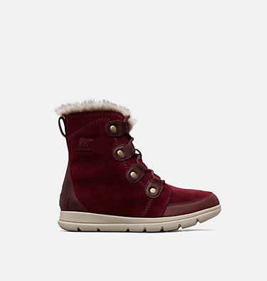 Women's SOREL™ Explorer Joan Boot SOREL™ EXPLORER JOAN | 282 | 11, Rich Wine Ancient Fossil, front