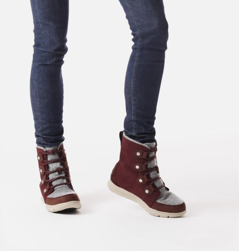 SOREL™ EXPLORER JOAN | 628 | 7 Women's Sorel Explorer™ Joan Boot, Redwood, video
