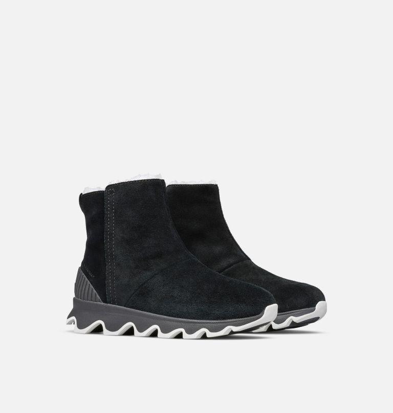 KINETIC™ SHORT | 010 | 9.5 Women's Kinetic™ Short Boot, Black, Sea Salt, 3/4 front