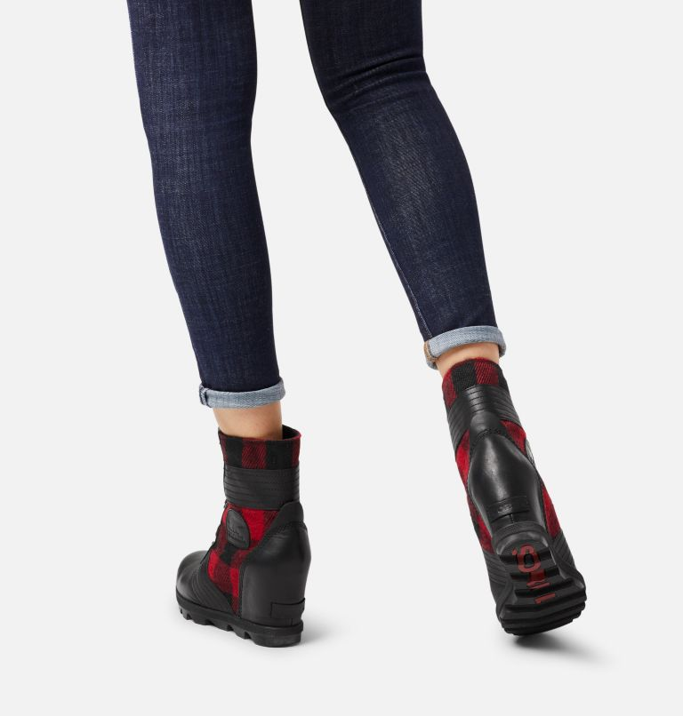 LEXIE™ WEDGE | 010 | 5 Women's Lexie™ Wedge Boot, Black, Red Plaid, a9