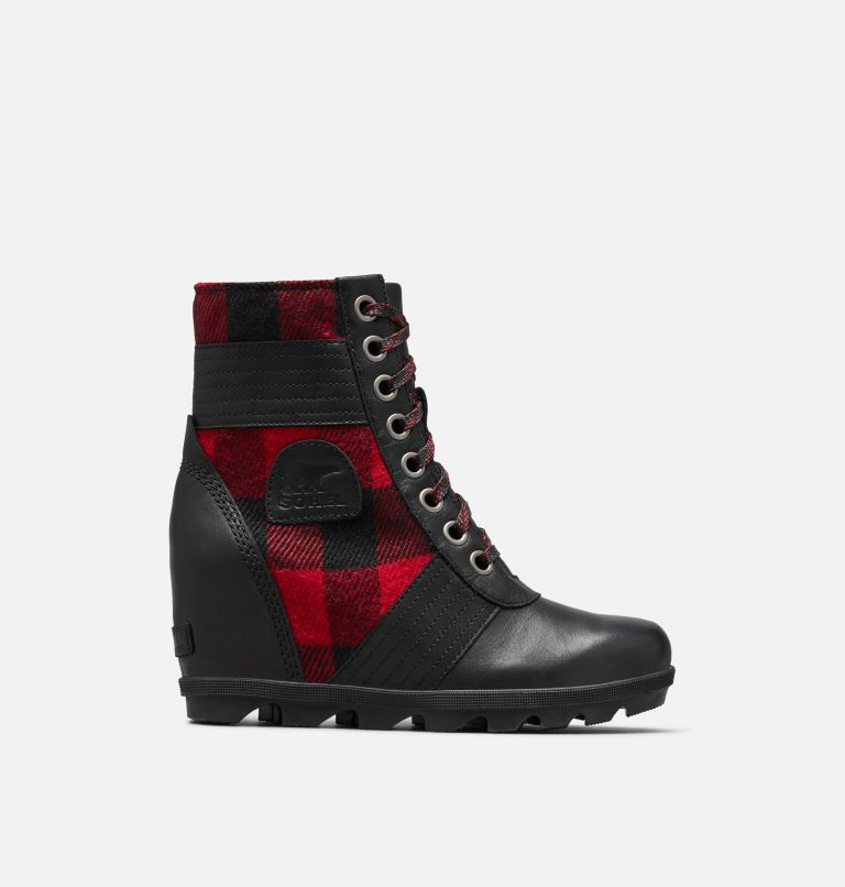 LEXIE™ WEDGE | 010 | 6.5 Women's Lexie™ Wedge Boot, Black, Red Plaid, front