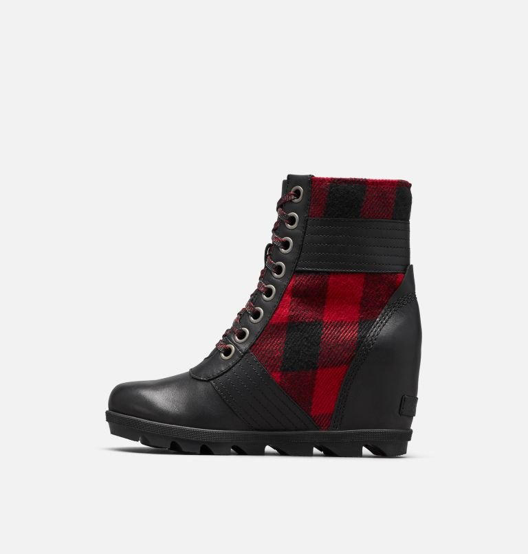 LEXIE™ WEDGE | 010 | 5 Women's Lexie™ Wedge Boot, Black, Red Plaid, medial