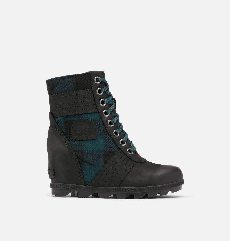 LEXIE™ WEDGE | 010 | 10 Women's Lexie™ Wedge Boot, Black, Blue Plaid, front