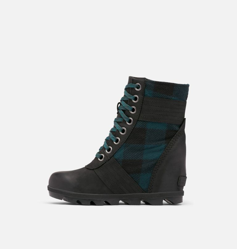 LEXIE™ WEDGE | 010 | 10 Women's Lexie™ Wedge Boot, Black, Blue Plaid, medial