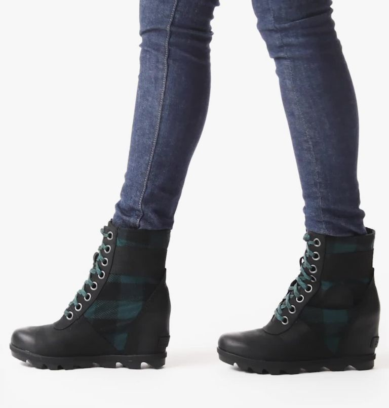 LEXIE™ WEDGE | 010 | 10 Women's Lexie™ Wedge Boot, Black, Blue Plaid, video