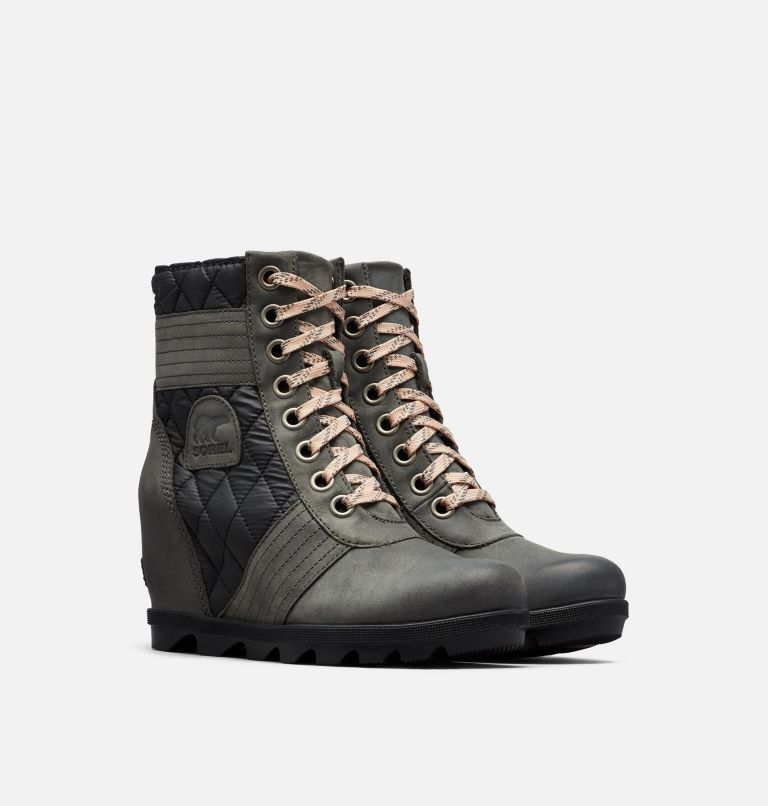 LEXIE™ WEDGE | 026 | 10.5 Women's Lexie™ Wedge Boot, Dark Slate, 3/4 front