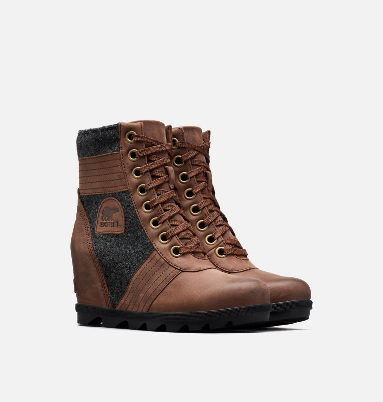 LEXIE™ WEDGE | 256 | 6 Women's Lexie™ Wedge Boot, Tobacco, 3/4 front
