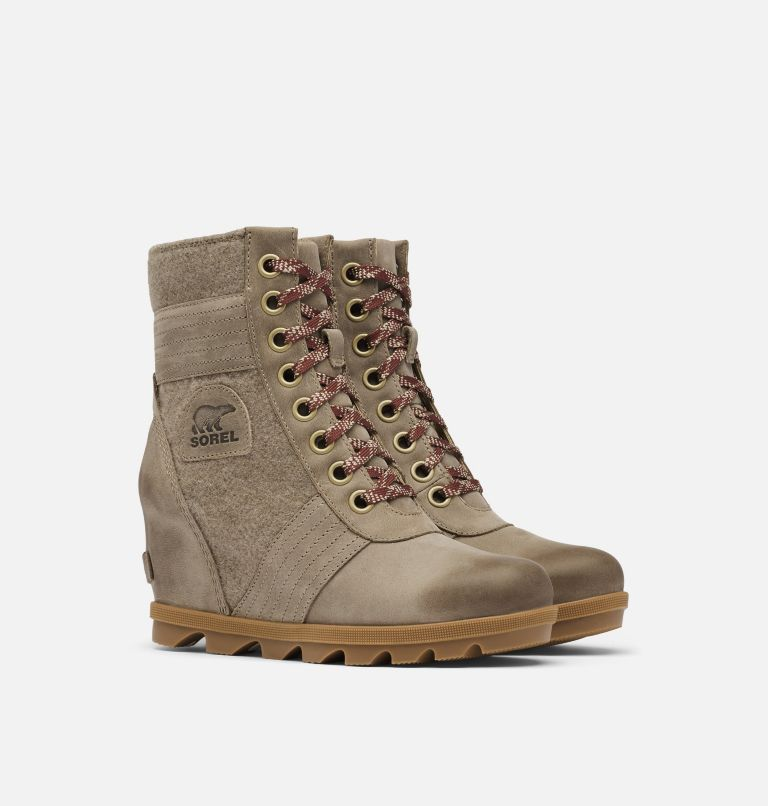 LEXIE™ WEDGE | 297 | 7 Women's Lexie™ Wedge Boot, Khaki II, 3/4 front