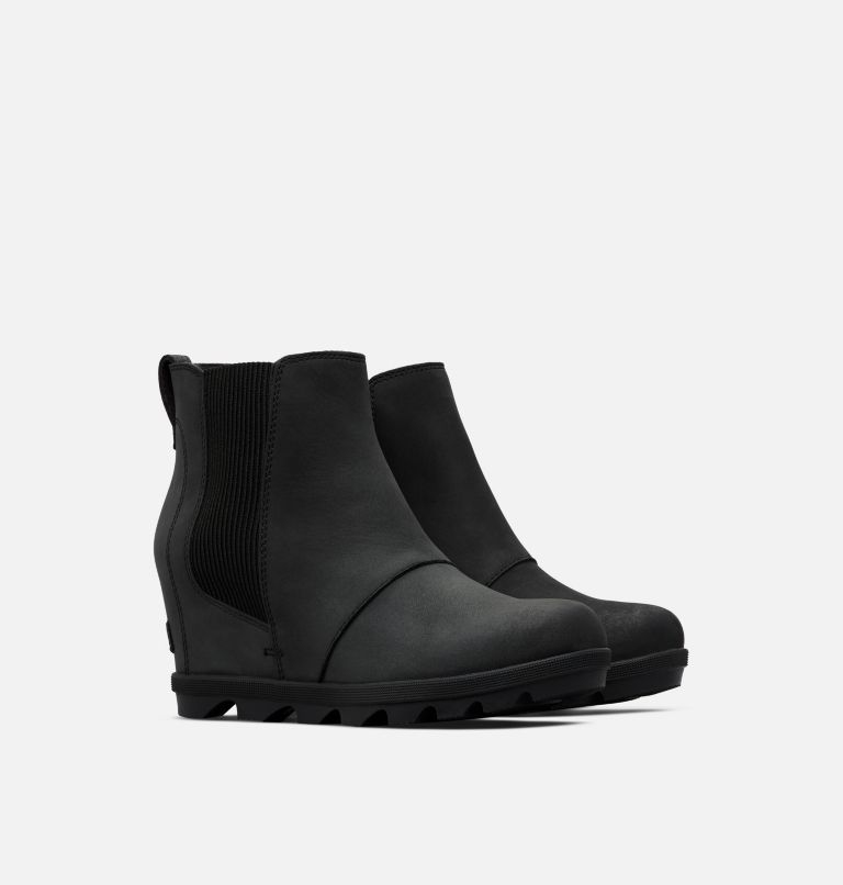 JOAN OF ARCTIC™ WEDGE II CHELSEA | 010 | 7 Women's Joan of Arctic™ Wedge II Chelsea Bootie, Black, 3/4 front