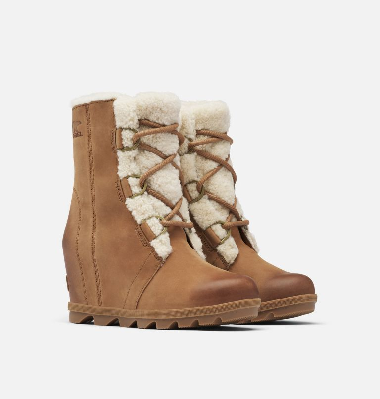 JOAN OF ARCTIC™ WEDGE II SHEARLING | 242 | 8.5 Women's Joan of Arctic™ Wedge II Shearling Boot, Velvet Tan, 3/4 front