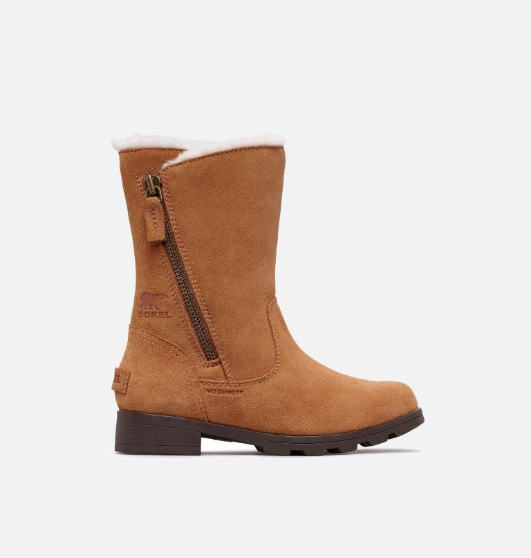 YOUTH EMELIE™ FOLD-OVER | 224 | 4.5 Youth Emelie™ Fold-Over Boot, Camel Brown, Natural, front
