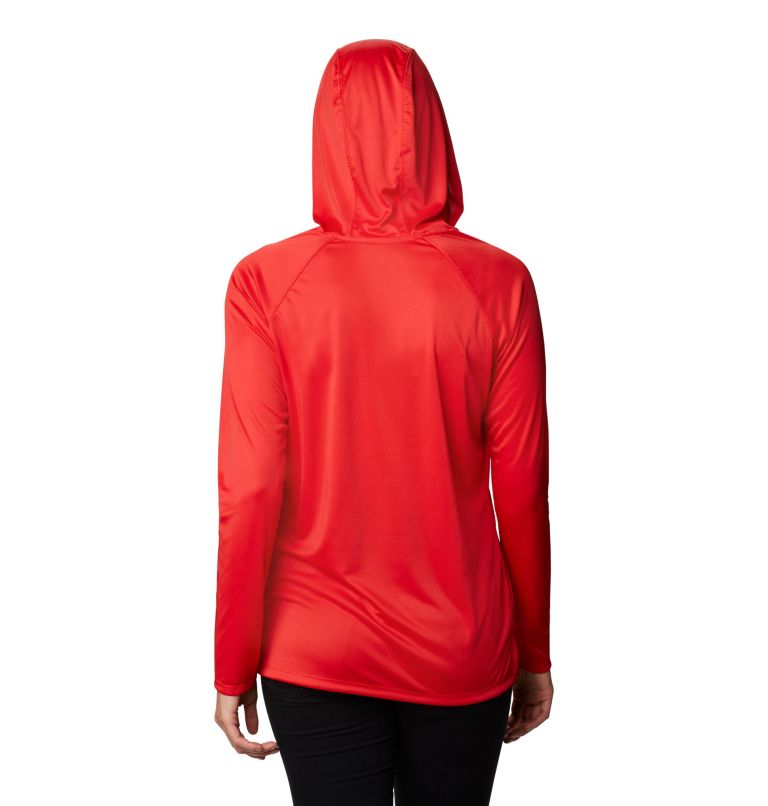 Lake Clark™ EXS Hoodie | 691 | XS Women's Lake Clark™ Hoodie, Bright Red, back