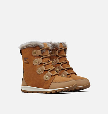 Children's Whitney™ Suede Boot CHILDRENS WHITNEY™ SUEDE | 053 | 11, Elk, Natural, 3/4 front
