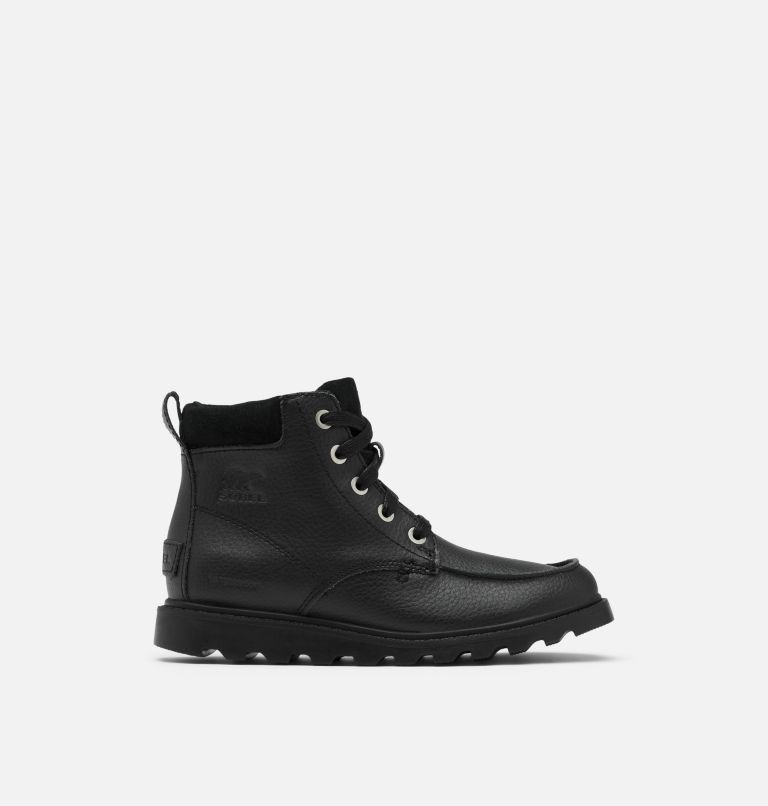 YOUTH MADSON™ MOC TOE WATERPROOF | 011 | 5 Youth Madson™ Moc Toe Boot, Black, Black, front