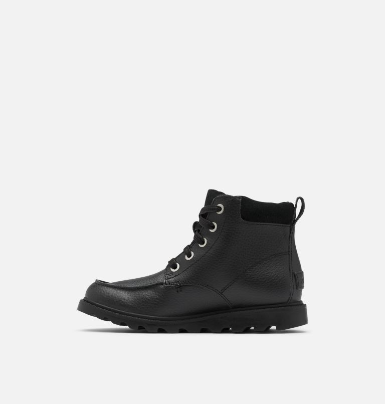 YOUTH MADSON™ MOC TOE WATERPROOF | 011 | 4 Youth Madson™ Moc Toe Boot, Black, Black, medial