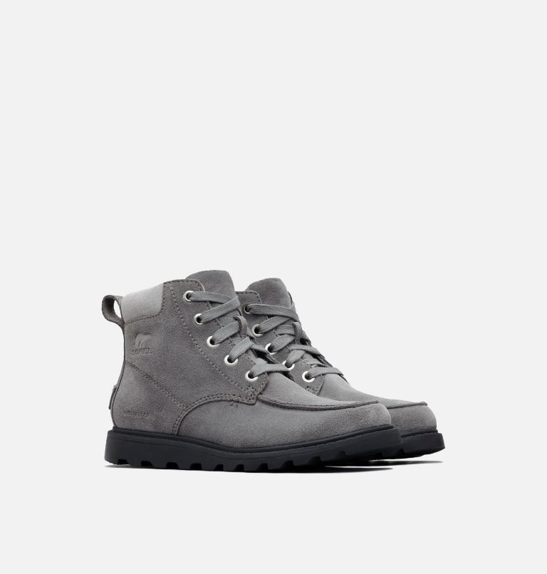YOUTH MADSON™ MOC TOE WATERPROOF | 052 | 3 Youth Madson™ Moc Toe Boot, Quarry, Chrome Grey, 3/4 front