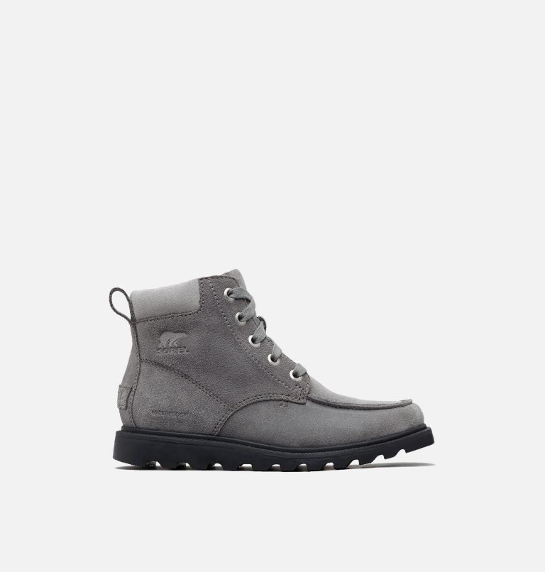 YOUTH MADSON™ MOC TOE WATERPROOF | 052 | 3 Youth Madson™ Moc Toe Boot, Quarry, Chrome Grey, front