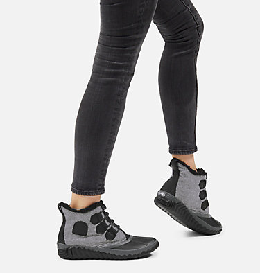 Women's Out 'N About™ Plus Boot OUT N ABOUT™ PLUS | 245 | 10, Black, Felt, 3/4 front